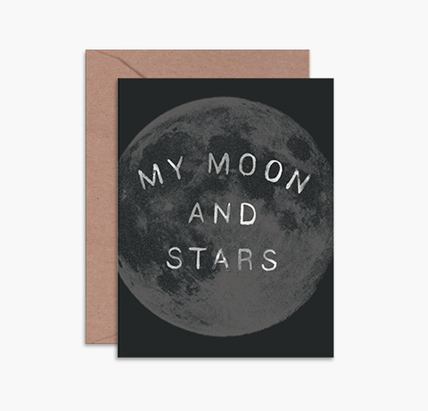 MOON AND STARS - Card
