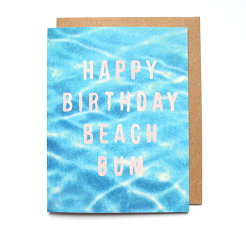 BEACH BUM - Card