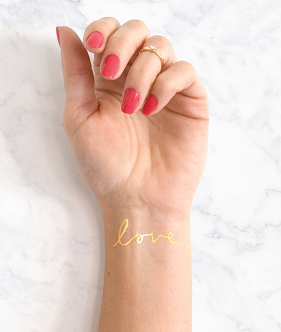 Love flash tattoo, wedding tattoo