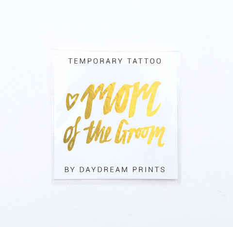 Single 'Mom of the Groom' Flash Tattoo