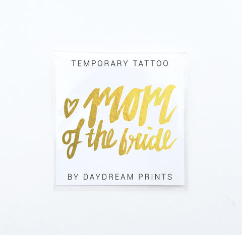 Single 'Mom of the Bride' Flash Tattoo