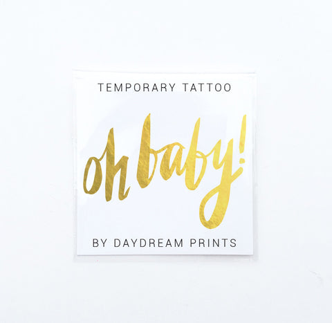 Single 'Oh Baby!' Flash Tattoo