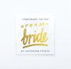 Single 'Team Bride' Flash Tattoo