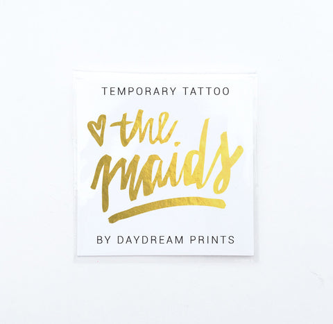 Single 'The Maids' Flash Tattoo