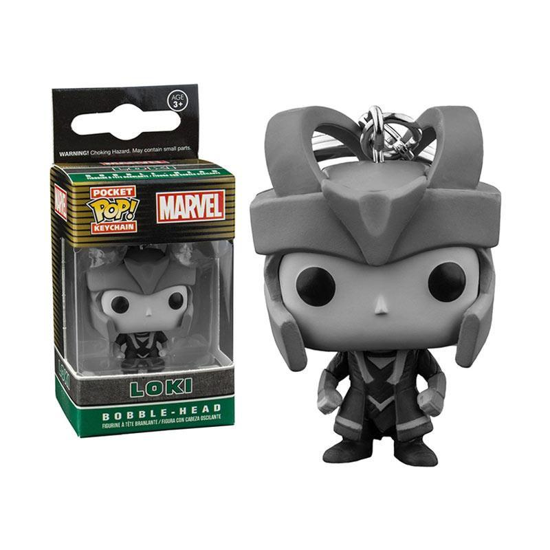 Pocket POP! Keychain: Marvel: Loki B&W (Exc) - Fandom