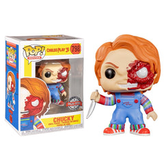 POP Movies: Horror S7 - Chucky Half (BD) (Exc) - Fandom