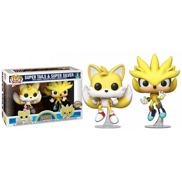 POP Games: Sonic- 2PK Super Tails&Super Silver (SDCC Exc)