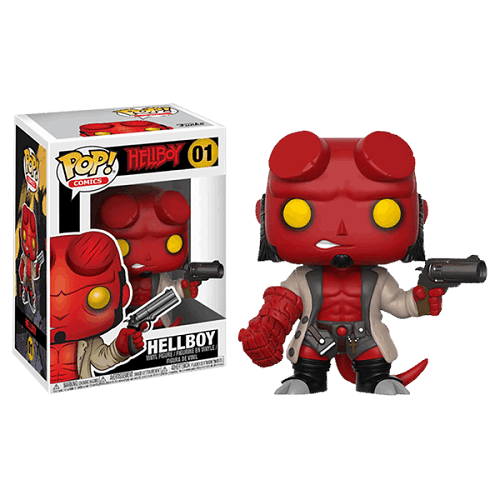 POP Hellboy S1: Hellboy w/Jacket & No Horns w/chase - Fandom