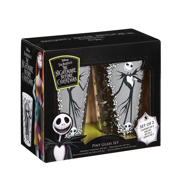 Nightmare Before Christmas: Pint Glass Set: Jack & Bones - Fandom