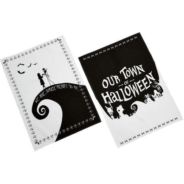 Nightmare Before Christmas: Tea Towel Set: Silhouette - Fandom