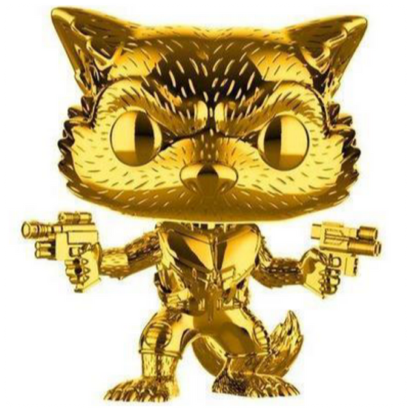 POP Marvel: MS 10 - Rocket Raccoon (Chrome) (Exc)