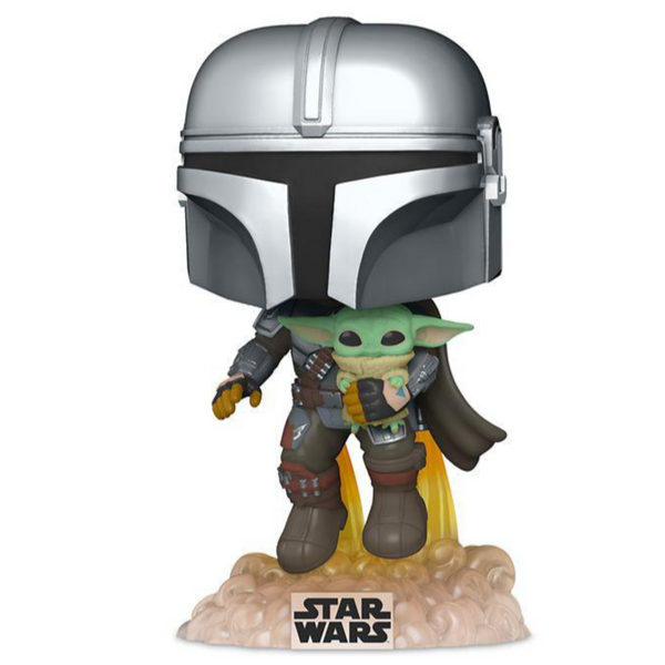 POP Star Wars: The Mandalorian- Mando Flying w/Jet