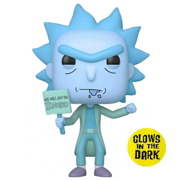 POP Animation: Rick & Morty - Hologram Rick Protestor (GW) (Exc)