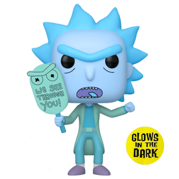 POP Animation: Rick & Morty - Hologram Rick (GW) (Exc)