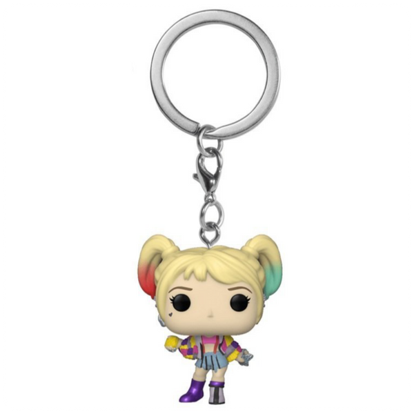 POP Keychain: Birds of Prey - Harley Quinn (Caution Tape)