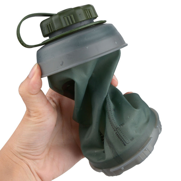 750ml Collapsible Water Bottle Reusable Foldable Folding Lightweight Compact  Bottles