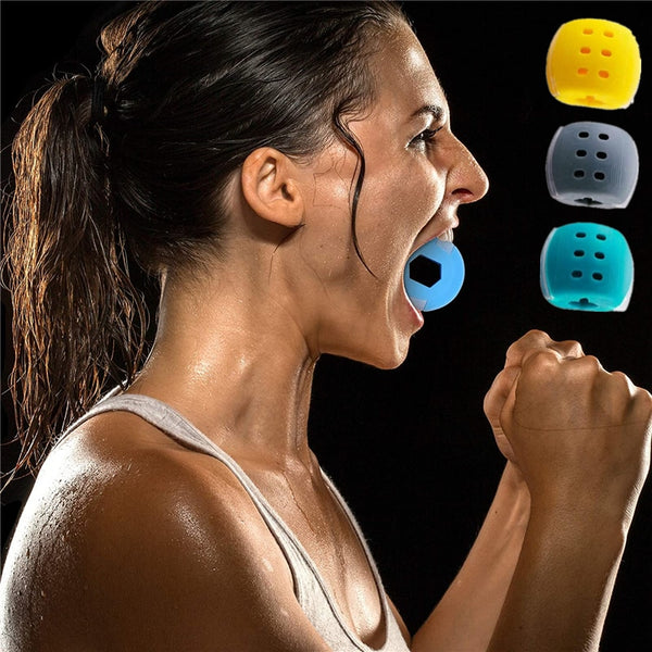 30-50Lbs New Food Grade Silicone Jawline Fitness Ball Face Jaw Trainer
