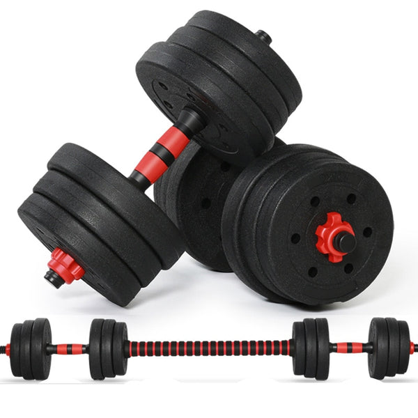 20KG /44LB  Adjustable Dumbbell Weight Set Weights  plastic cover  Gym Workout