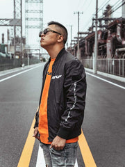MVP Reversible Black/Reflective Bomber Jacket