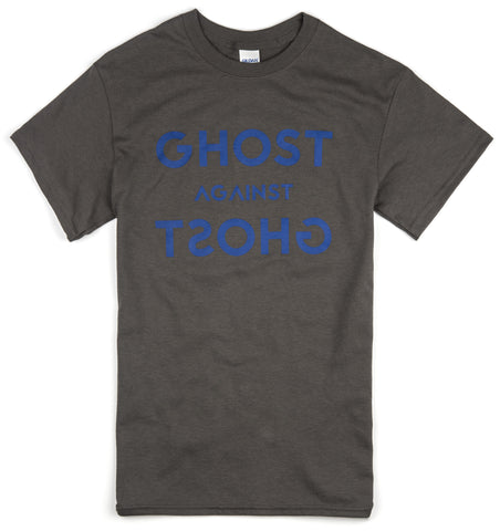 Unisex Ghost Against Ghost 'Logo' Design T-shirt (Grey)