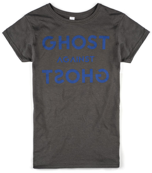 Female Ghost Against Ghost 'Logo' Design T-shirt (Grey)