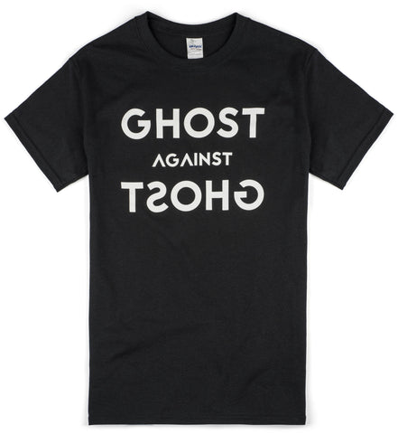 Unisex Ghost Against Ghost 'Logo' Design T-shirt (Black)
