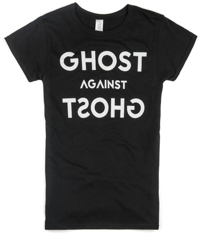 Female Ghost Against Ghost 'Logo' Design T-shirt (Black)