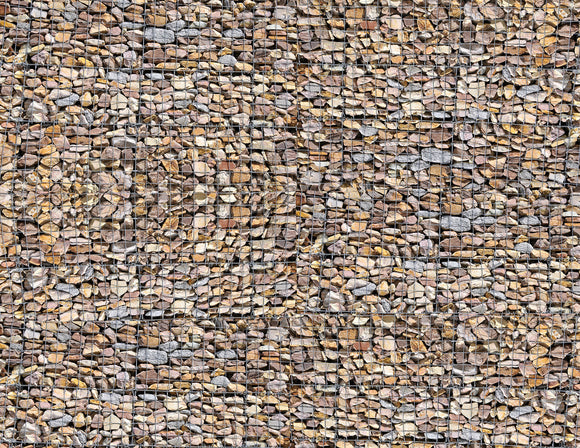 Gabion Wall Scenery Sheet