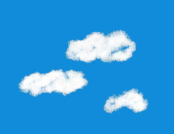 Sky with Clouds Model Train Background Kit #1