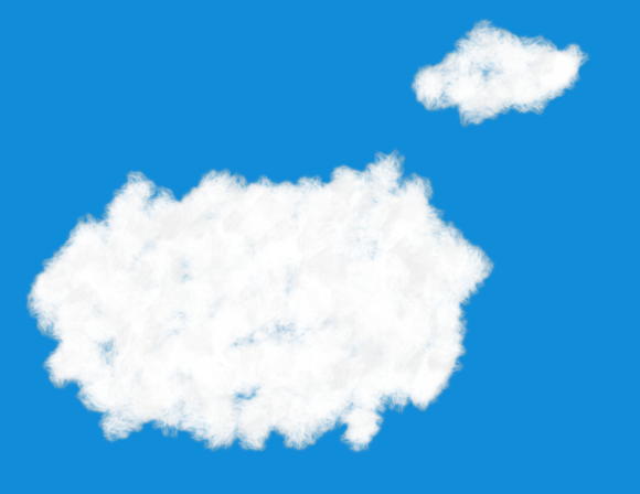 Sky with Clouds Model Train Background Kit #2