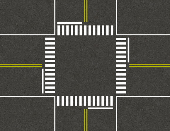 Street Crosswalk Model Train Scenery Sheet