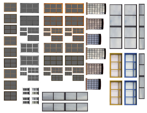 Commercial Windows Architectural Elements Scenery Sheet