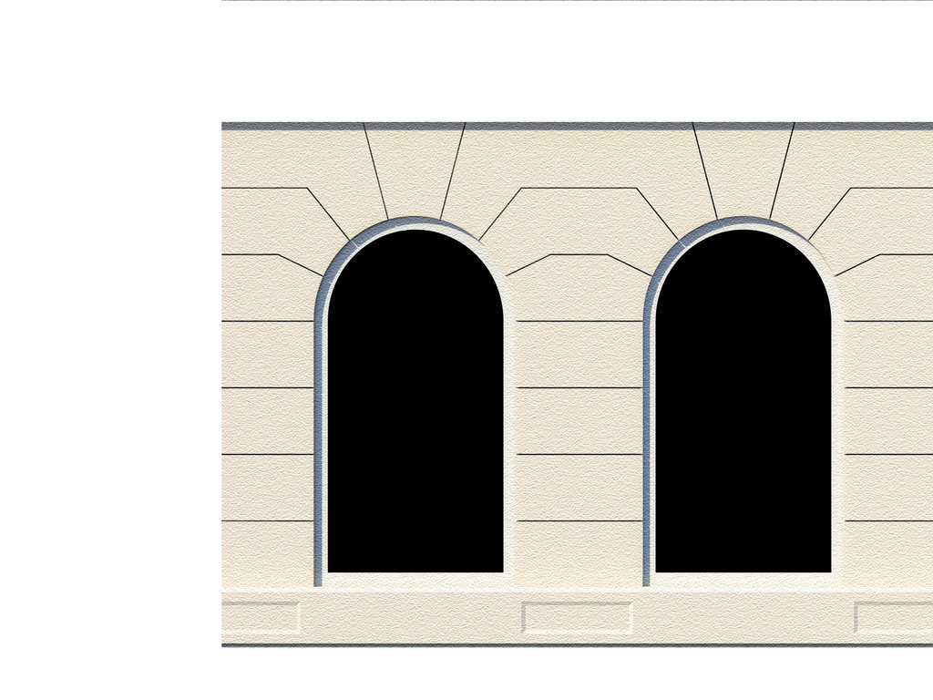 Architectural Building Elements : White building tops architectural elements scenery sheet