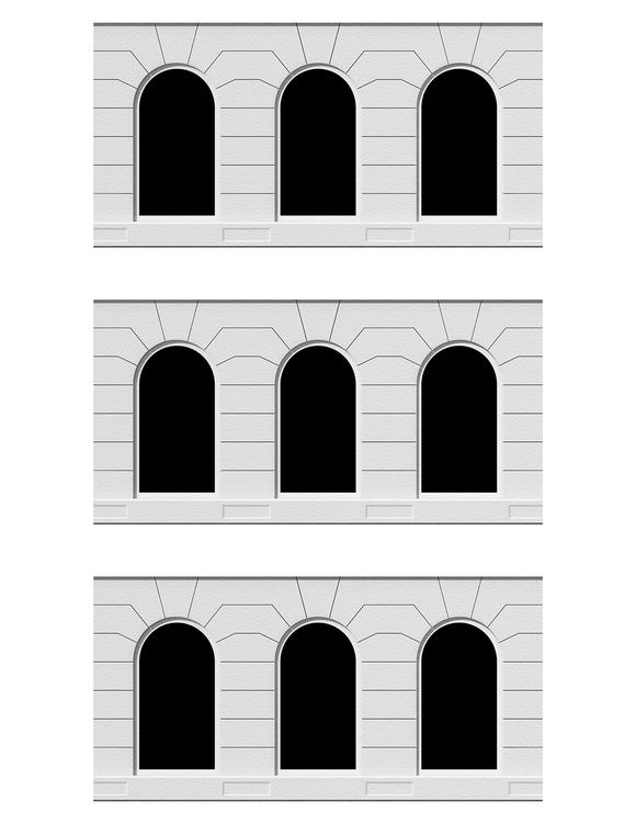 Gray Building Tops Architectural Elements Scenery Sheet
