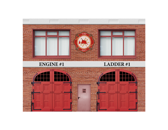 Fire Company Engine #1 Ladder #1 Paper Building Kit