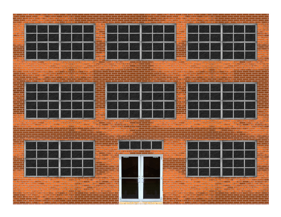 Aged Brick Industrial / Commercial Paper Building Kit