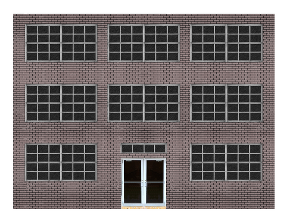 Black Brick Industrial / Commercial Paper Building Kit