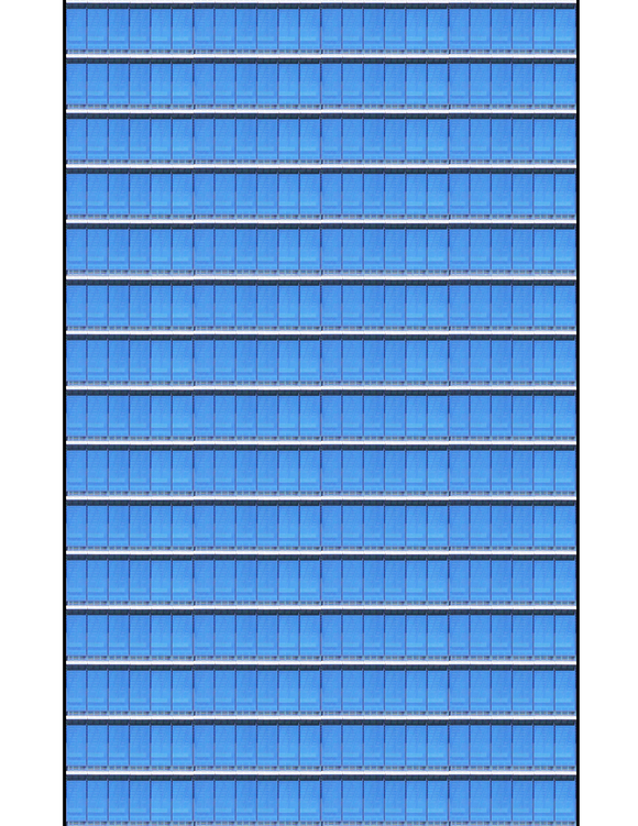 Blue Glass Highrise Multi-story Paper Building Sheet