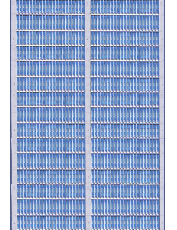 Blue and Gray Highrise Multi-story Paper Building Sheet