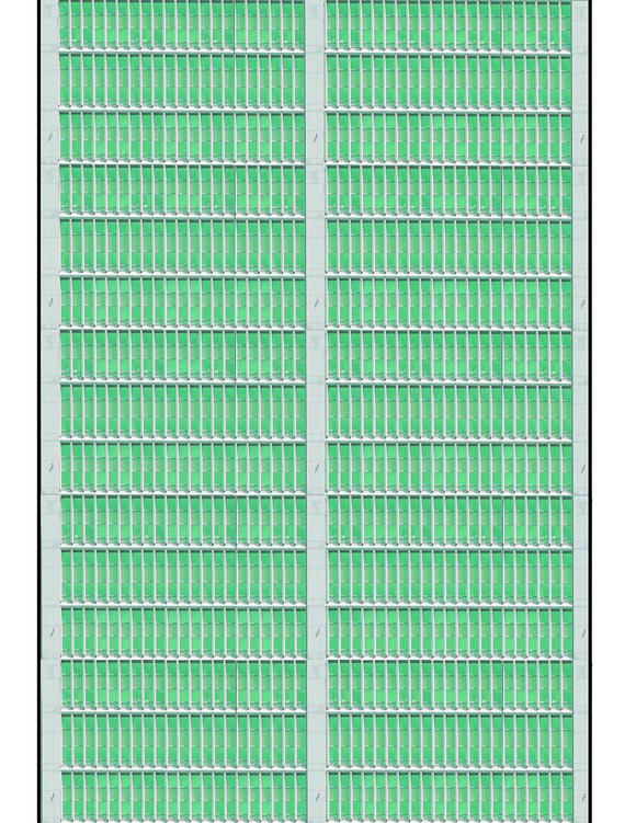 Green and Gray Highrise Multi-story Paper Building Sheet