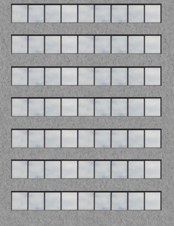 Gray Concrete Highrise Multi-story Paper Building Sheet