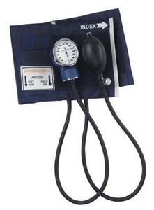 Aneroid Sphygmomanometer with Blue Nylon Cuff, Large Adult Blood Pressure Cuff - Scrubsnmed