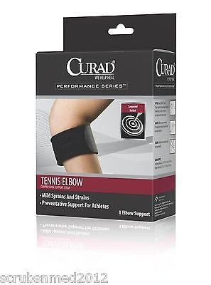 Tennis Elbow Compression Support Strap - Universal - Black - Scrubsnmed