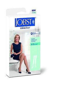 Jobst Women's Ultrasheer Thigh High 8-15 mmHg Close Toe Stocking With Lace Silicone Band , Braces & Supports - JOBST, Scrubsnmed  - 2