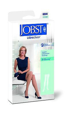 Jobst Women's Ultrasheer Thigh High 8-15 mmHg Close Toe Stocking With Lace Silicone Band - Scrubsnmed
