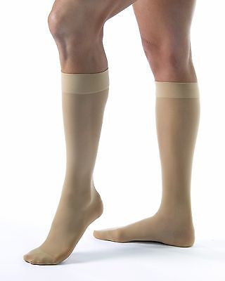 Jobst Women's Ultrasheer 20-30 mmHg Knee High Close Toe Firm Compression Stockings - Scrubsnmed
