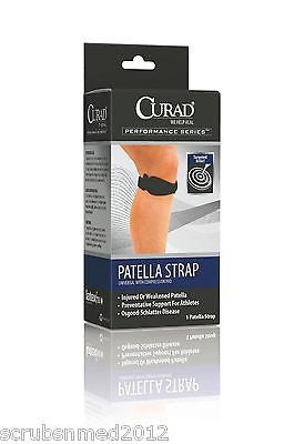 Patella Support Strap With Compression Pad - Black - Scrubsnmed