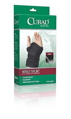 "Wrist Splint Brace With Removable Stays 6"" , Braces & Supports - Curad, Scrubsnmed  - 1"