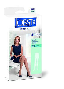 Jobst Ultrasheer 8-15 mmHg Pantyhose Waist High Support Wear Compression Hose - Scrubsnmed
