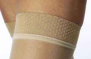 Jobst Women's Ultrasheer Thigh High 15-20 mmHg Close Toe W/ Lace Silicone Strip Top Band - Scrubsnmed